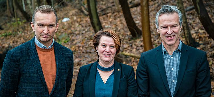 Magnus Berggren, Lisbeth Olsson och Lars Berglund