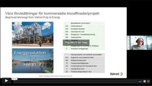 Introduktionssida till presentationsfilm för Valmet