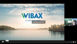 Introduktionssida till filmad presentation från Wibax